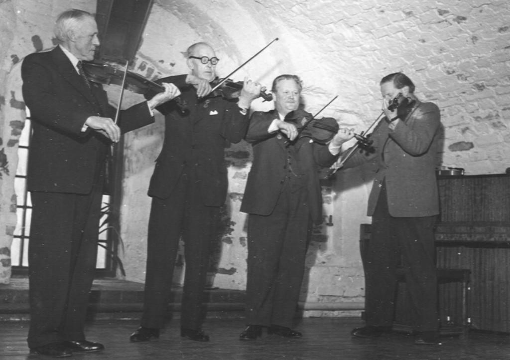 Fyra förbundsordförande. Seth Carlsson, Ivar Hultström, Gustaf Wetter o. Jan Martin Johansson