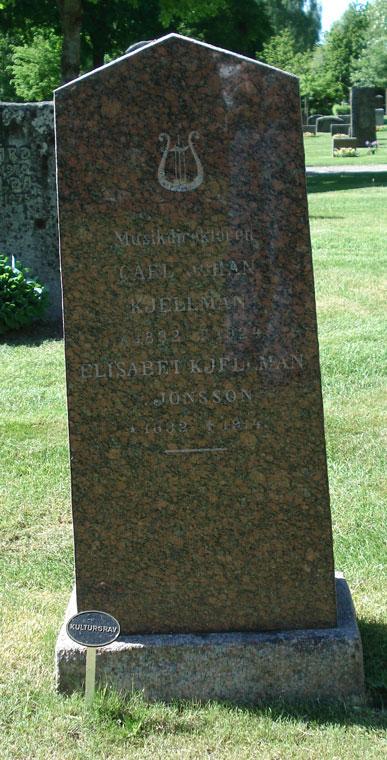 Carl Johan Kjellman är begravd på Ostra Vingåkers kyrkogård