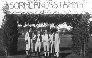 Midsommartinget 1922.  Foto Malmköpingsortens Hembygdsförening.