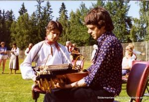 Anders Eklund och Styrbjörn Bergelt. Jubileumsstämman i Malmköping 1975.